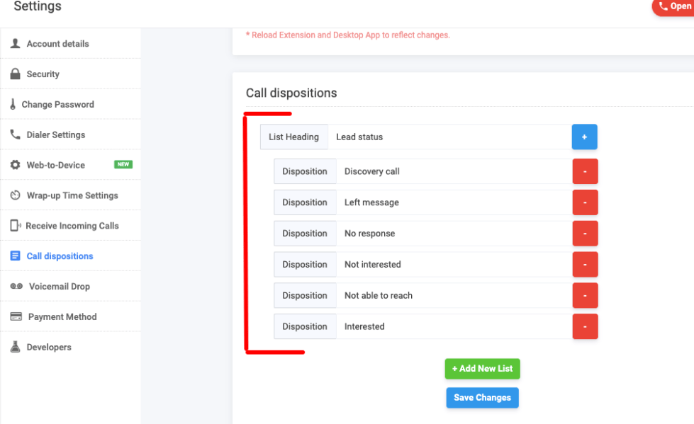 Freshsales call outcomes disposition codes in JustCall